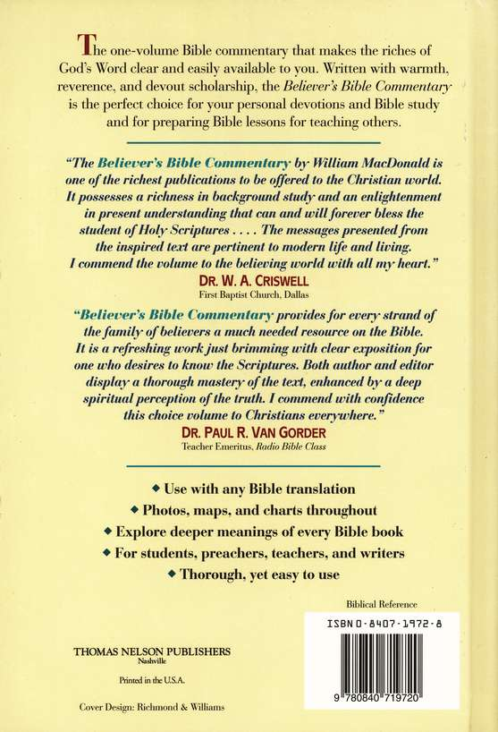 Believer S Bible Commentary For E Sword PC